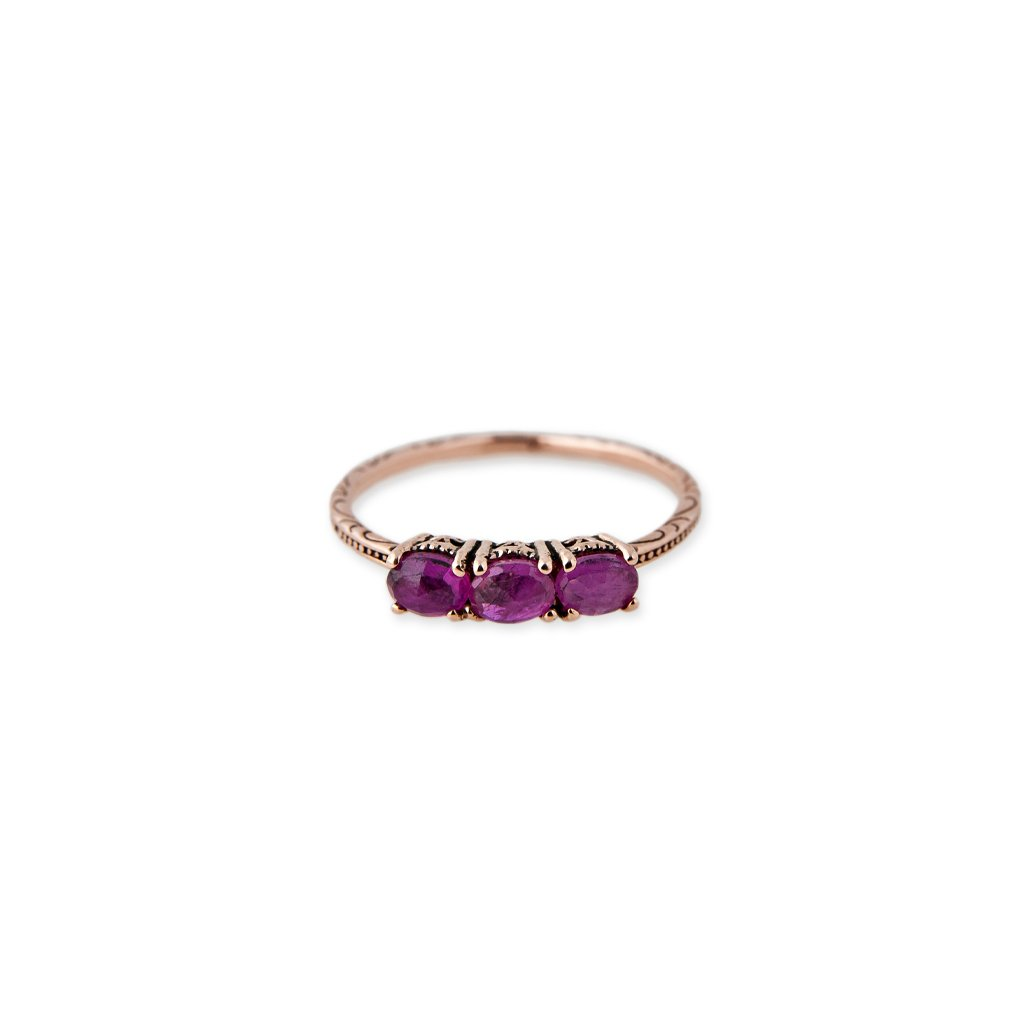 Image of 3 RUBY VINTAGE RING