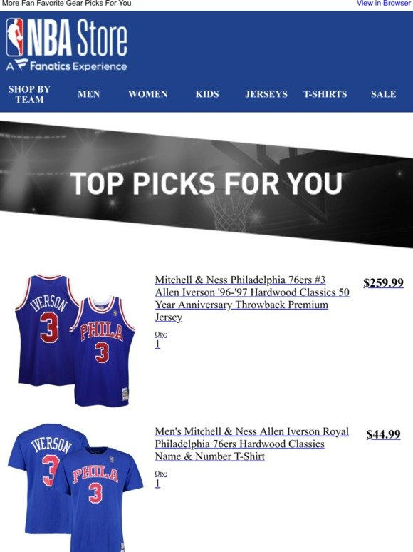 new styles 99ddc 449da The NBA Store: You Have Great Taste | Milled