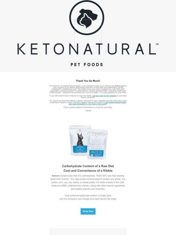 KetoNatural Pet Foods, Inc : Retraction of Article