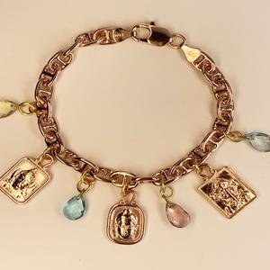 Heroes Charm Bracelet in Rose Gold