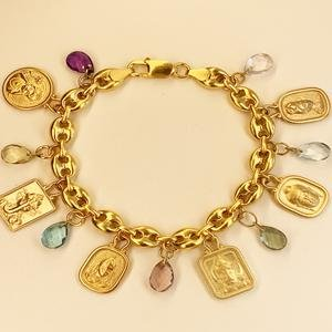 Heroes Journey Charm Bracelet in 18K Gold Plated