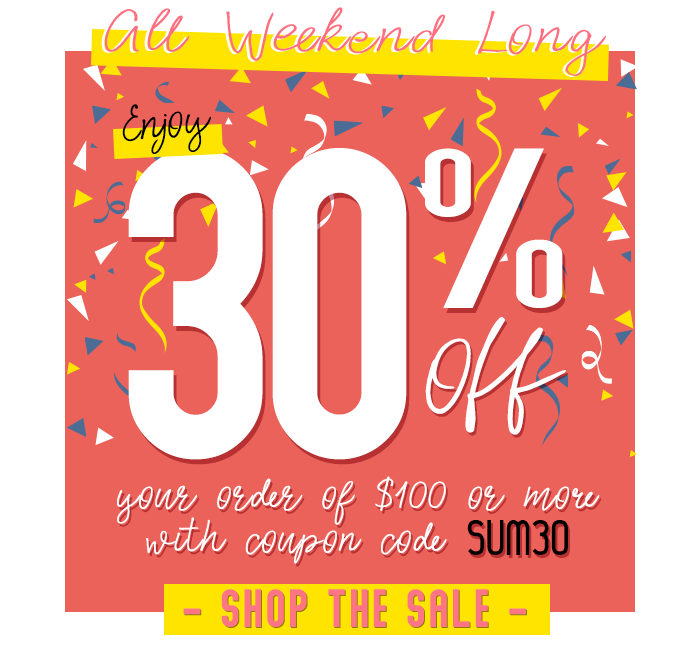30% off when you spend $100 or more with code SUM30