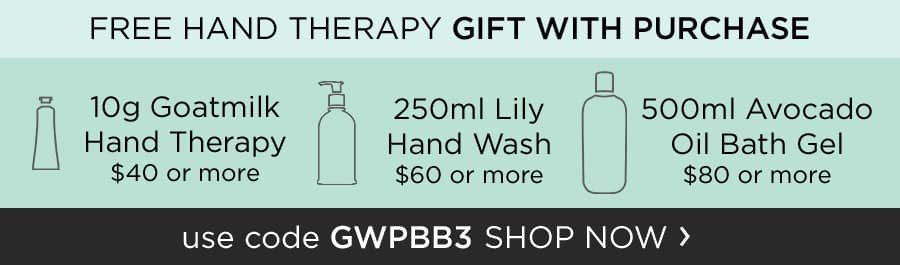 Free Gift with Purchase - use code GWPBB3