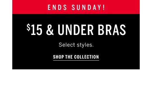 $15 and under bras