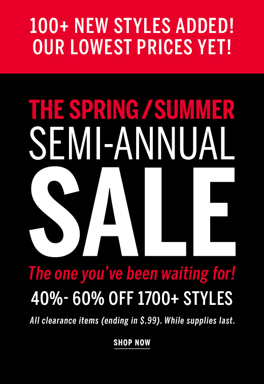 Semi Annual Sale 40%-70% Off
