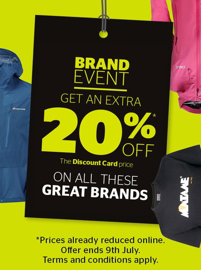 Brand Event - Get an extra 20% off all these great brands