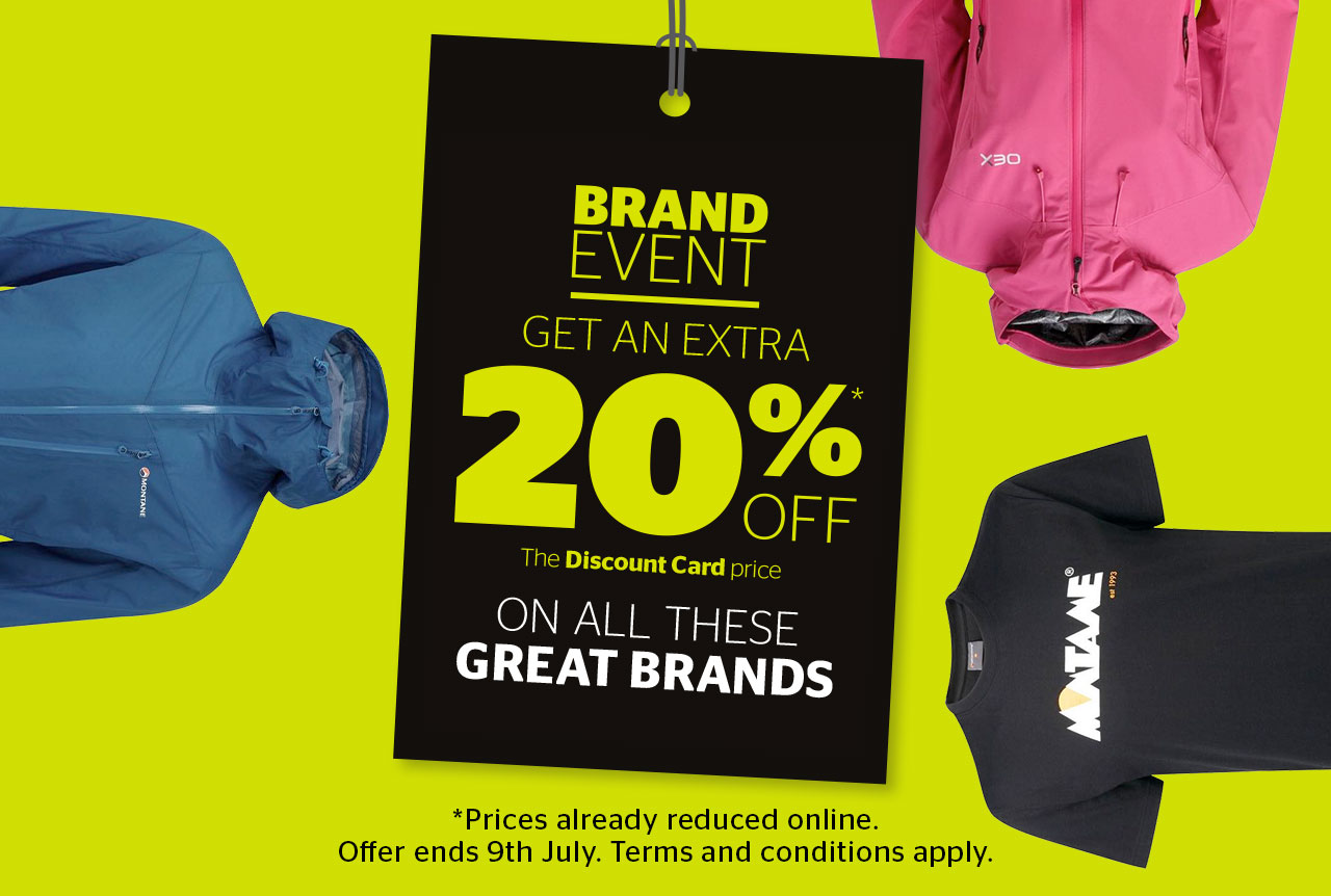 Brand Event - Get an extra 20% Off the discount card price on all these great brands