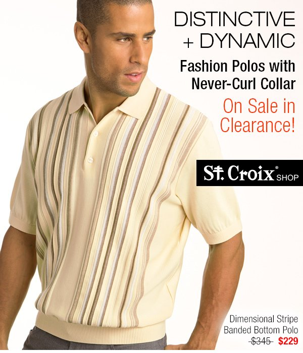 Striped Banded Bottom Polo - Style 3177