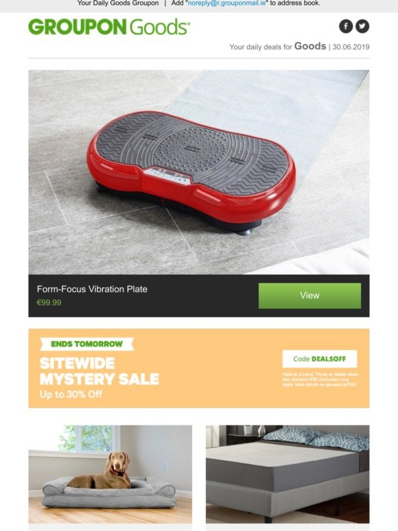 Terrific Groupon Ireland Form Focus Vibration Plate Orthopaedic Dog Short Links Chair Design For Home Short Linksinfo