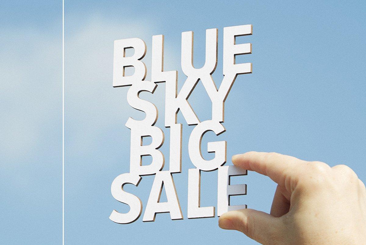 Blue Sky Big Sale