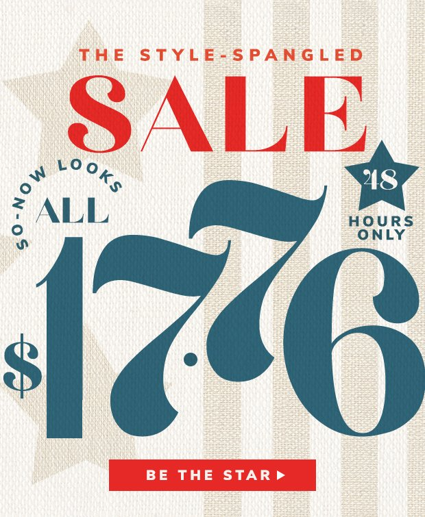  ☆  ALL $17.76 SALE  ☆  Star this email.