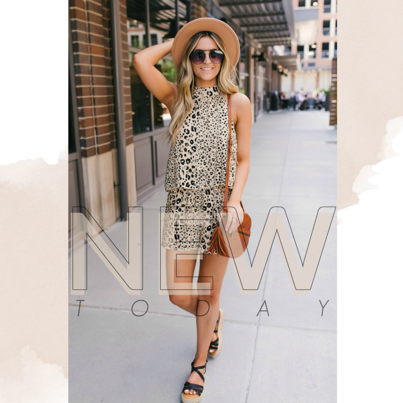 new leopard romper