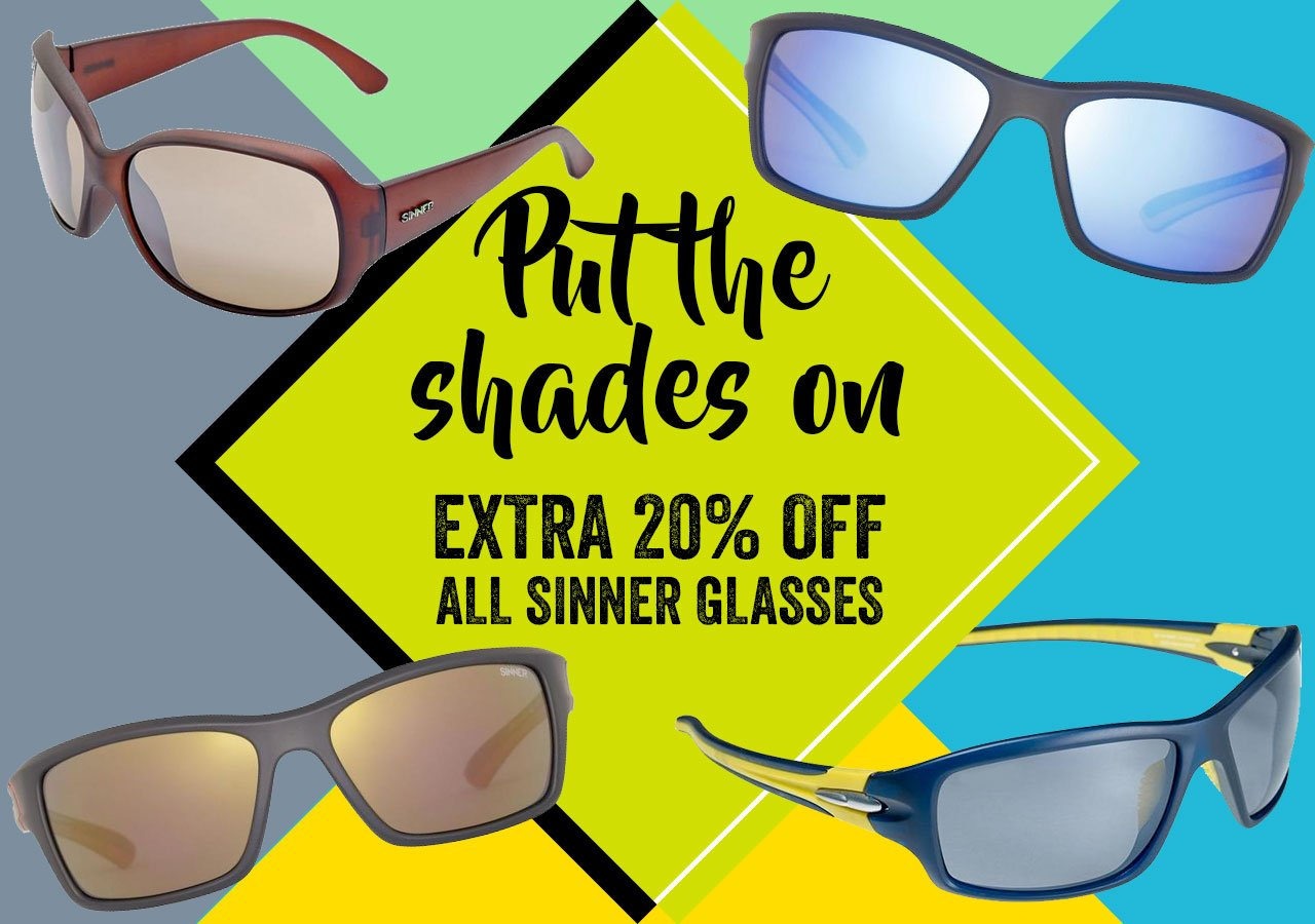 Extra 20% off all Sinner glasses