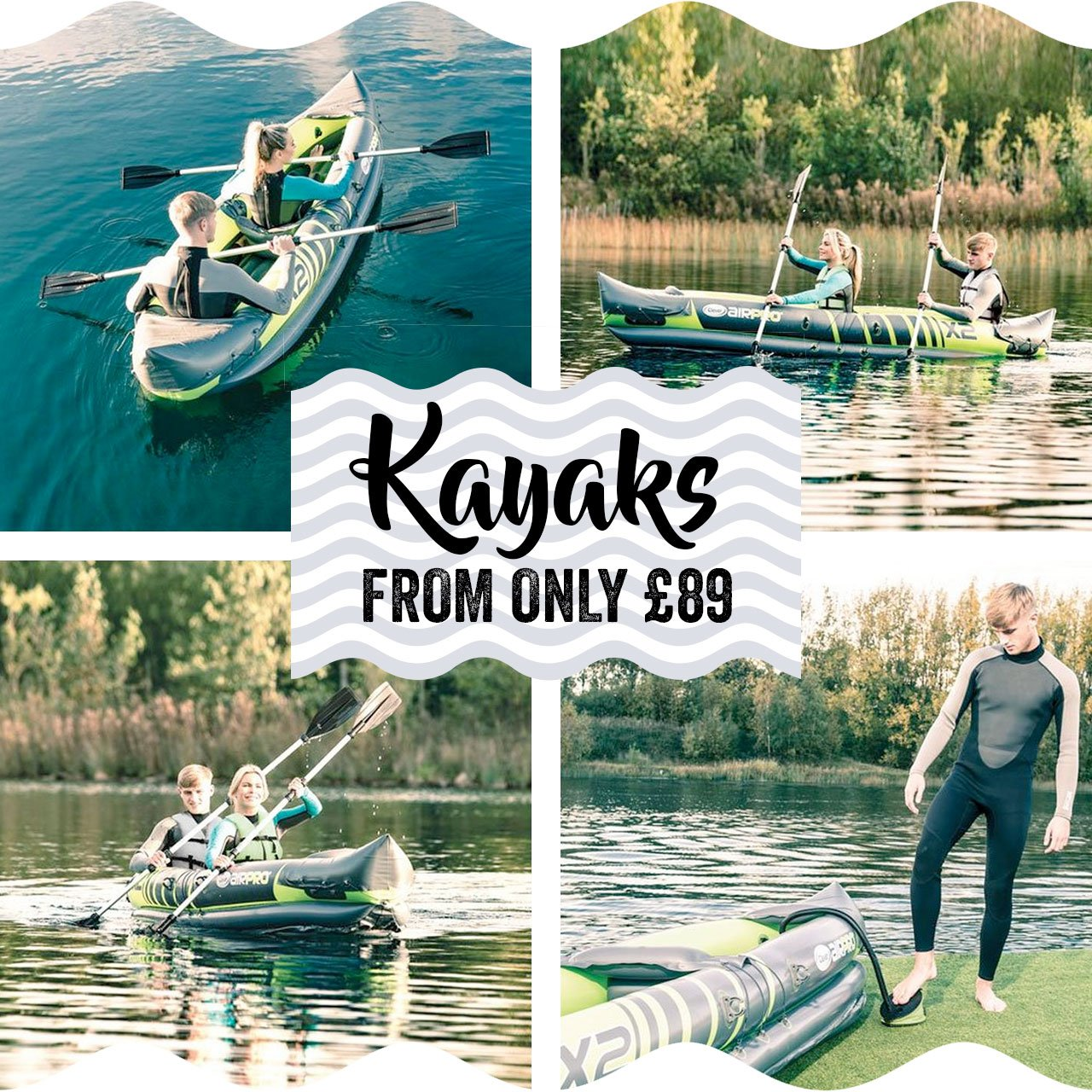 Kayaks from only £89