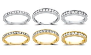 1/4–1 CTTW Diamond Channel Wedding Band In 10K Gold By DeCarat