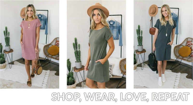 short sleeve t-shirt dress