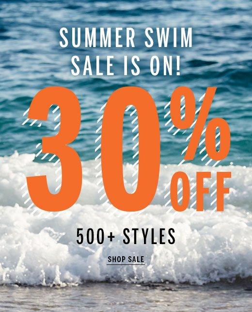 summer swim sale is on 30% off