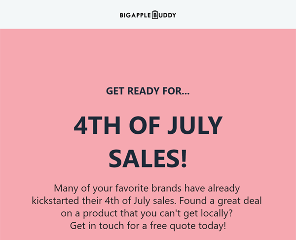 613b350e9ab Big Apple Buddy: 4th of July Sales! | Milled