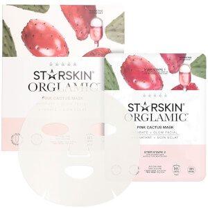 STARSKIN Orglamic Pink Cactus Oil Mask Hydrate + Glow Facial 0.9 oz