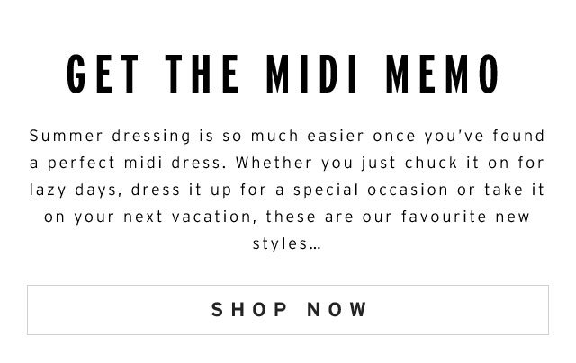 New midi dresses and how to style them