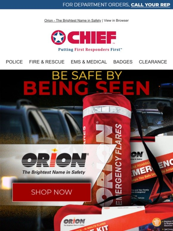 Chief Supply: We Carry The Brightest Name in Safety | Milled