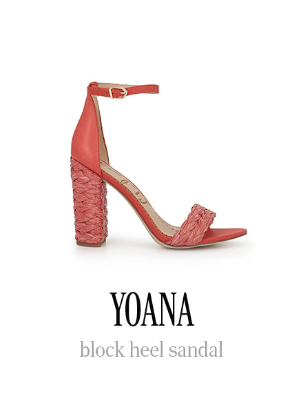 YOANA block heel sandal