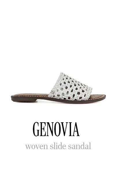 GENOVIA woven slide sandal
