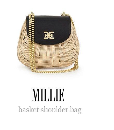 MILLIE basket shoulder bag