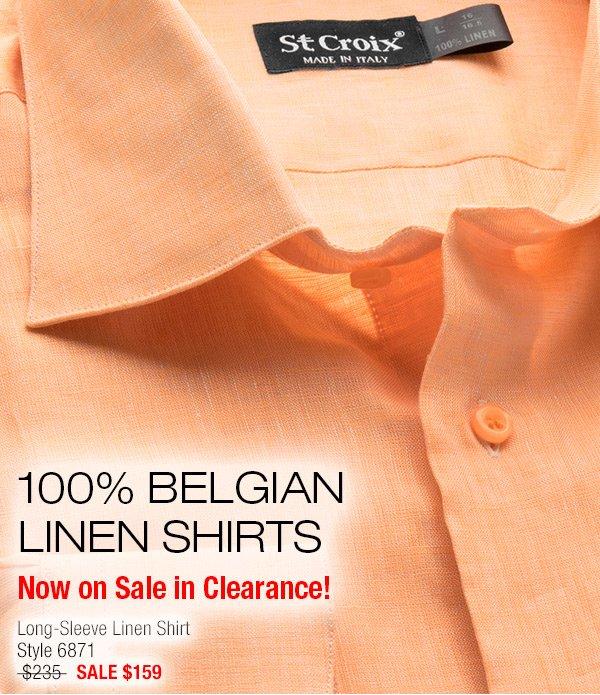 Long-sleeve Linen Shirt - Style 6871