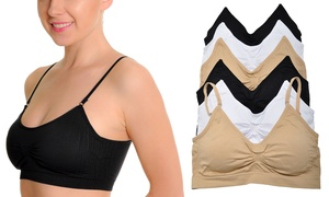Angelina Seamless Wire-Free Bralette with Removable Pads (6-Pack)