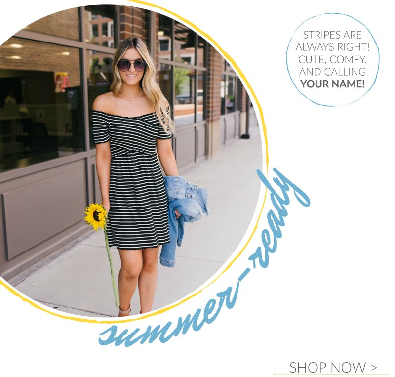 striped cross front dress