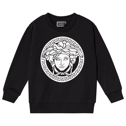 Versace  Black and White Medusa Logo Sweatshirt