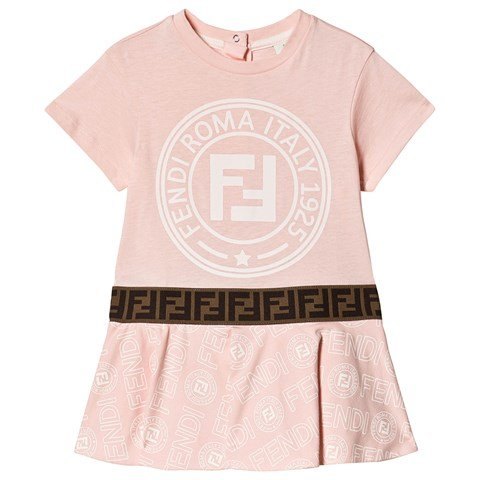 Fendi Pink FF Roma Stamp Dress