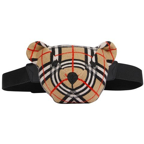 Burberry Beige Check Bear Bum Bag