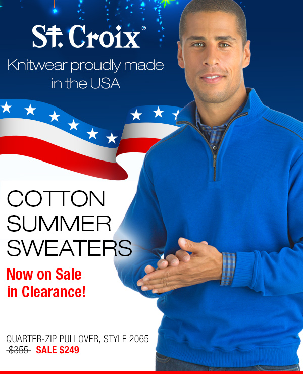 Cotton Quarter-Zip Pullover - Style 2065