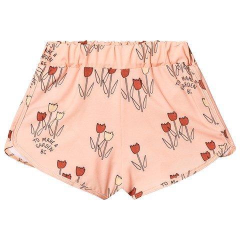 Bobo Choses Rose Poppy Prairie Swim Shorts