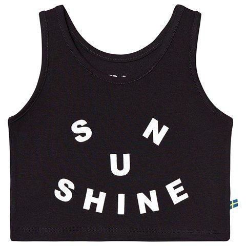 The Brand Black Sunshine Cropped Tank Vest