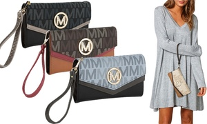 MKF Collection by Mia K. Farrow Holiday M Signature Women's Wristlet