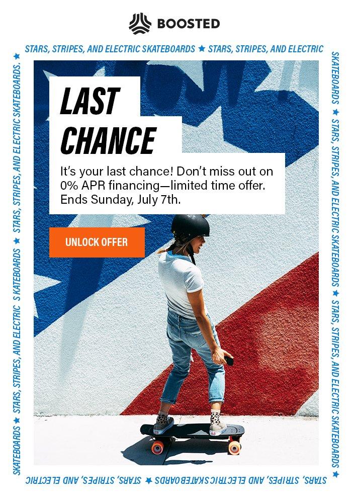 Last Chance 0% APR