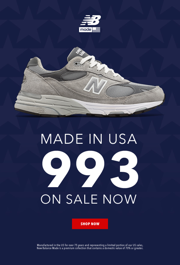 Go Fourth in Red, White and 993 Shoes