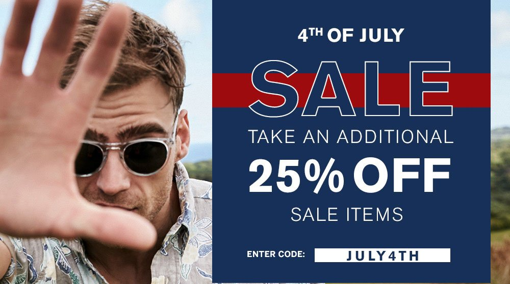 4th Of July Sale - 25% Off
