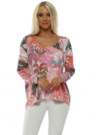 Pink Butterfly Long Sleeve Top