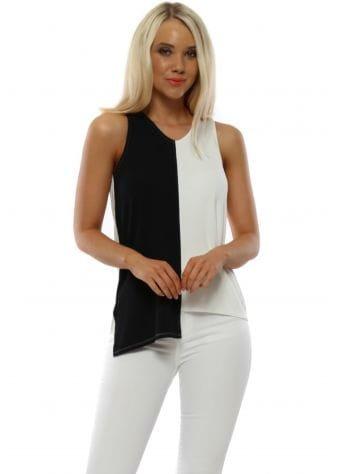 Courtney Daisy White Contrast Vest