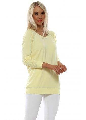 Sofia Banana Lurex Trim Raglan Sweater