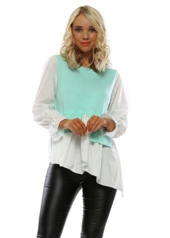 Aqua Shirt Jumper