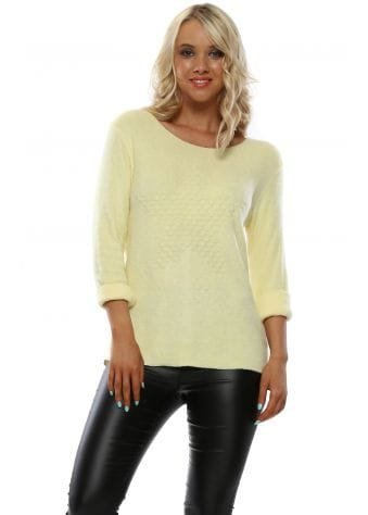 Yellow Star Embossed Soft Fluffy Top