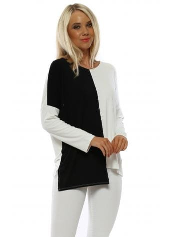 Dee Daisy White Contrast Top