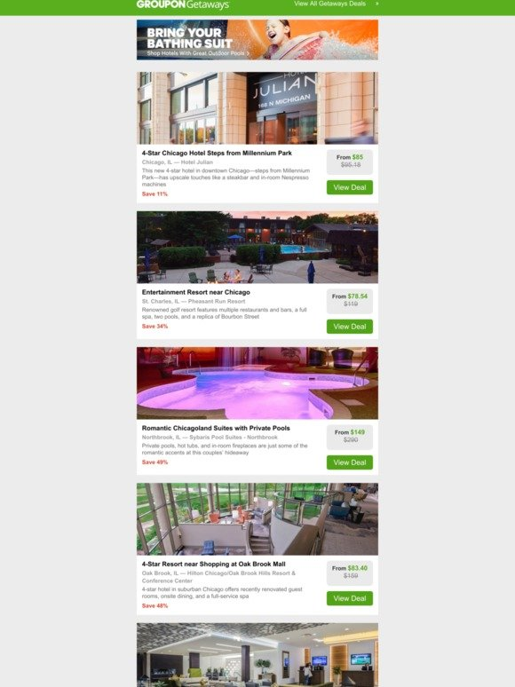 Groupon SE: 4-Star Hotel in Downtown Chicago   Chicagoland Golf