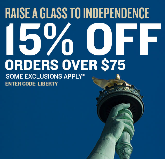 15% Off Orders Over $75. Promo Code: LIBERTY