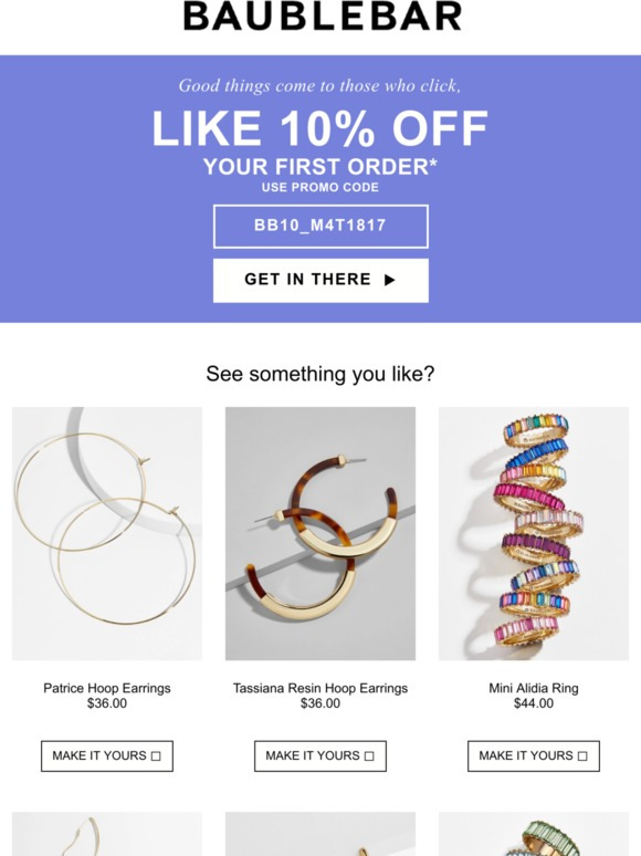 BaubleBar: Last chance for 10% off | Milled